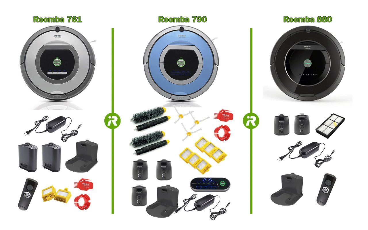 761 790 and 880 Roomba in the box