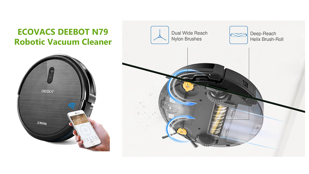 ECOVACS DEEBOT N79 Robotic Vacuum Cleaner Cleaning System