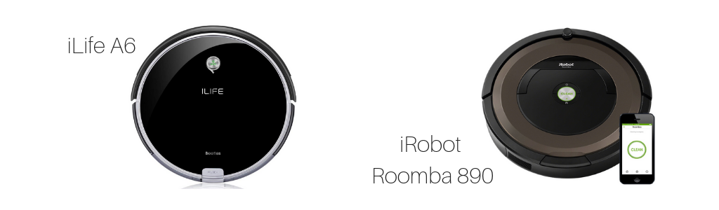 iLife A6, iRobot, Roomba 890, Mid-Range and Entry-Level Models Compared, Vacuum Specifications, Vacuum Fanatics