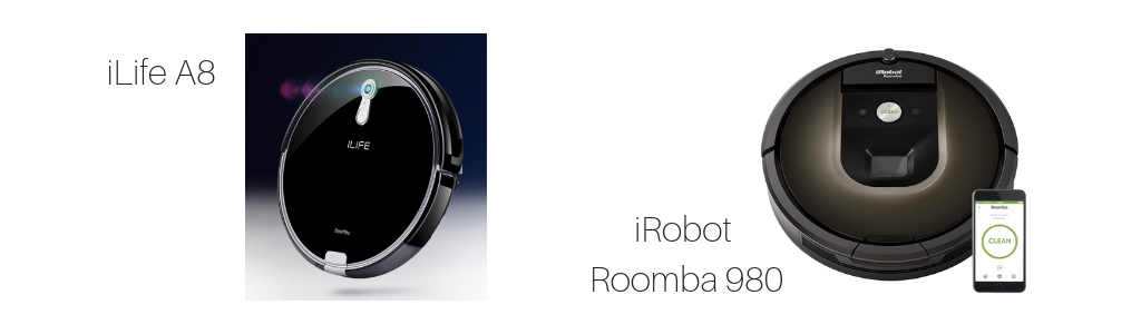 iLife A8, iRobot, Roomba 980, high-end, Mid-Range and Entry-Level Models Compared, Vacuum Specifications, Vacuum Fanatics
